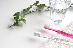 2本の歯ブラシとタオル
